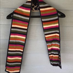 Coach scarf reversible wool